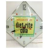 VIEW 2 CLOSE UP DIET-RITE COLA PAM CLOCK