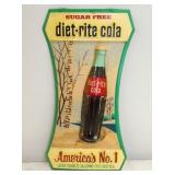 9X17 EMB. DIET-RITE COLA PLASTIC SIGN