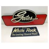 7X18 GATES SIGN & 4X10 WHITE ROCK SIGN