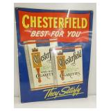 23X30 EMB. CHESTERFIELD SIGN