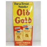 14X34 EMB. OLD GOLD SIGN