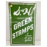 20X23 PORC. S&H GREEN STAMPS SIGN