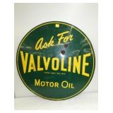 30IN. 1952 VALVOLINE MOTOR OIL SIGN