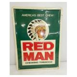 12X15 EMB. RED MAN SIGN