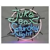 VIEW 2 CLOSE UP JUKE BOX SATURDAY NIGHT NEON