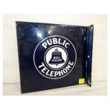 11X12 PUBLIC TELEPHONE FLANGE SIGN