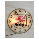 15IN. MOBILGAS LIGHTED CLOCK