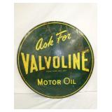 30IN. 1956 VALVOLINE MOTOR OIL SIGN
