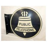 18X20 TELEPHONE FLANGE SIGN
