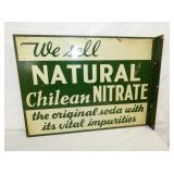14X18 NATURAL NITRATE FLANGE SIGN