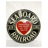 24IN. ORG. SEABOARD RR SIGN