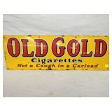 12X36 PORC. OLD GOLD CIGARETTE SIGN