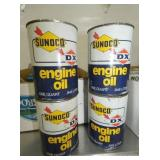 SUNOCO/DX OIL CANS