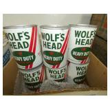 WOLFS HEAD OIL CANS