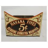 3X3 1/2 5 CENT HAVANA FIVES CIGAR DISPLAY
