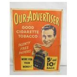 11X14 OUR ADVERTISER PAPER TOBACCO AD
