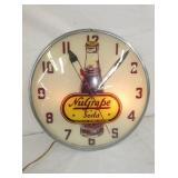 15IN. NUGRAPE SODA CLOCK