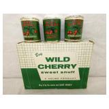 NOS WILD CHERRY SNUFF W/PRODUCT
