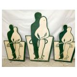 24X43 & 21X35 WOODEN SILHOUETTES