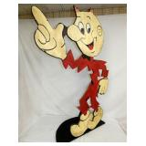 VIEW 2 CLOSE UP WOODEN REDDY KILOWATT