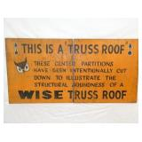 24X48 WOODEN WISE TRUSS ROOF SIGN