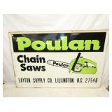 45X70 EMB. POULAN CHAINSAW SIGN