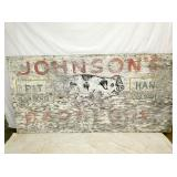 4FT.X8FT. WOODEN JOHNSONS BAR- B-QUE SIGN