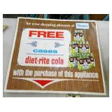 DIET-RITE COLA CARTON SIGN