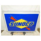 42X61 EMB. LIGHTED SUNOCO SIGN