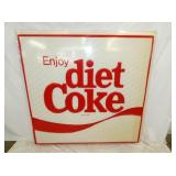 60X60 EMB. DIET COKE INSERT SIGN