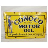 18X29 PORC. CONOCO MOTOR OIL SIGN