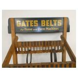 VIEW 2 TOP W/WOODEN GATES BELTS SIGN