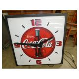 37X37 LIGHTED COKE CLOCK