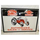 50X74 EMB. FORD TRACTOR SIGN