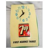 13X21 LIGHTED 7-UP CLOCK