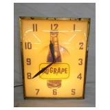 13X17 NUGRAPE LIGHTED CLOCK