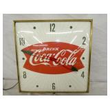 15IN. COKE FISHTAIL CLOCK