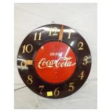 17IN. DECO COKE CLOCK