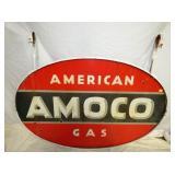 39X59 PORC. AMERICAN AMOCO SIGN