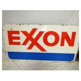 45X85 DOUBLE SIDE PORC. EXXON SIGN