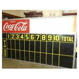 69 1/2 X 118 COCA COLA SCORE BOARD SIGN