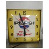 13IN. PEPSI CLOCK
