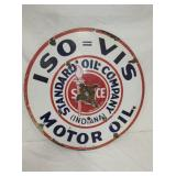 30IN. PORC. ISO STANDARD OIL SIGN