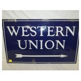 18X30 PORC. WESTERN UNION SIGN W/ARROW