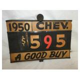 10X14 CHEVY PRICE SIGN
