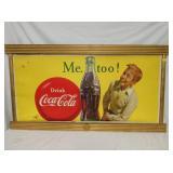 33X60 COKE CARDBOARD W/FRAME