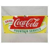 7X16 PORC. COKE FOUNTAIN SIGN