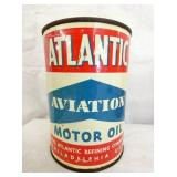 1 T. ATLANTIC AVIATION METAL OIL CAN