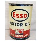 5QT. ESSO MOTOR OIL METAL CAN