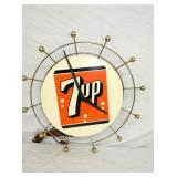 18IN. DECO 7-UP CLOCK
